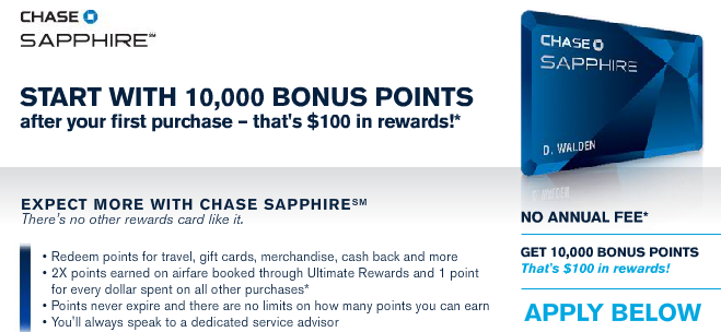 Chase Sapphire Rewards Credit Card